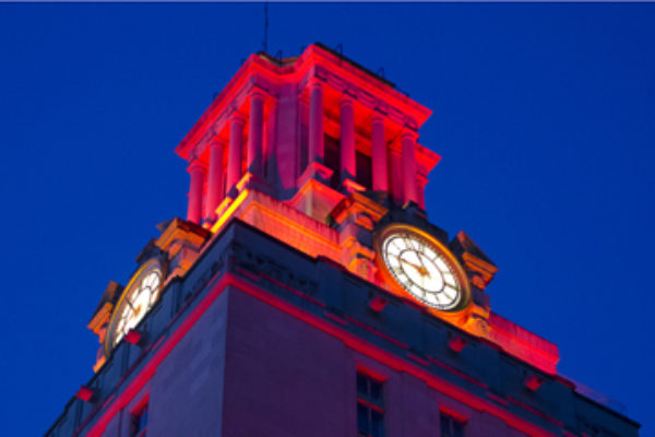 UT Tower lighting