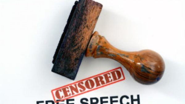 Free Speech Censorship Stamp