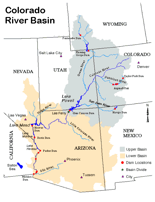 Colorado River Basin map