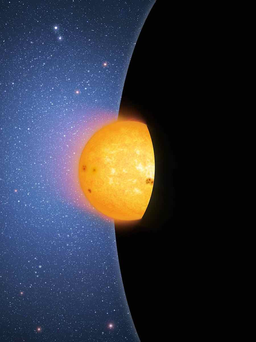 Star falling into a black hole