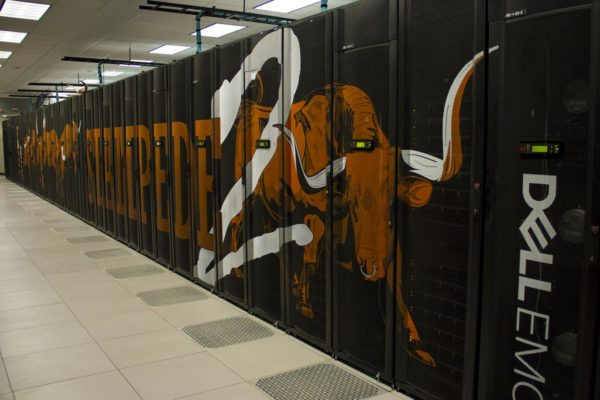 UT Super computer Dell EMC painted label Stampede on it