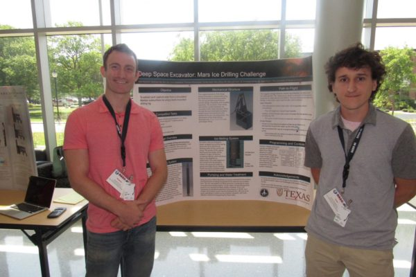 Ben List and Conor McMahon presenting on the Mars Ice Challenge