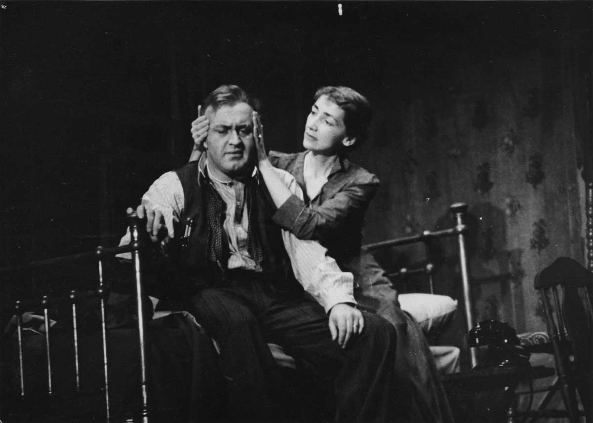 Fred Fehl (American, b. Austria, 1906–1995), [Lee J. Cobb as Willy and Mildred Dunnock as Linda in the original production of