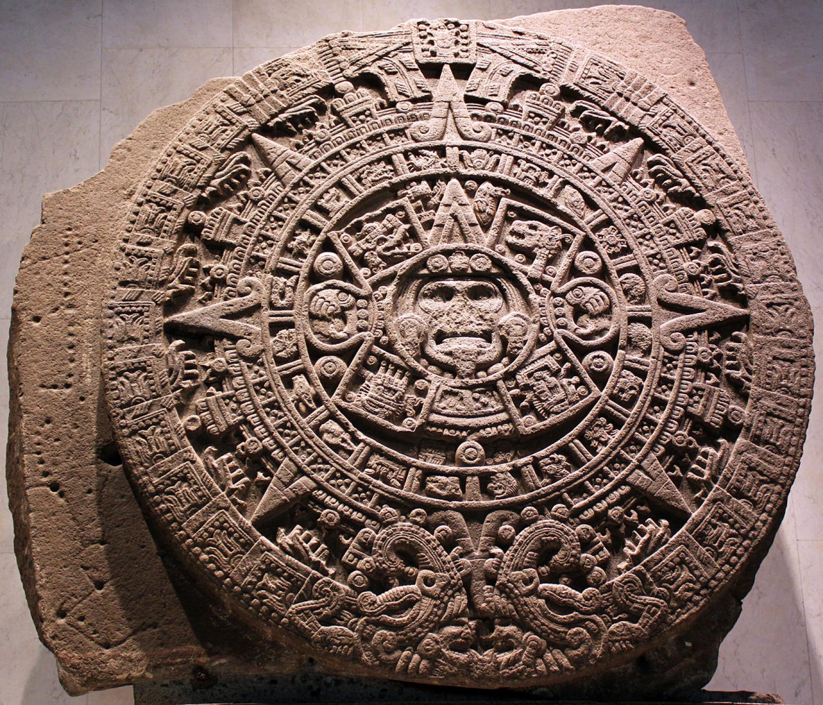 New Interpretation For Aztec Sun Stone Shows It Is A Named