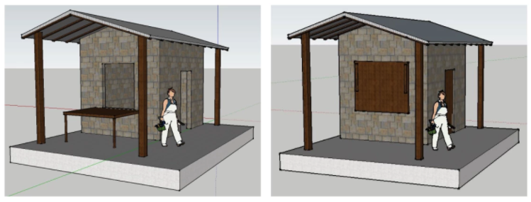 Test kitchen design for PUC project.