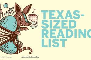 Armadillo book illustration for Texas Reading List