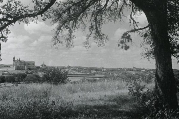 UT Austin campus from Wooldridge Hill, 1902