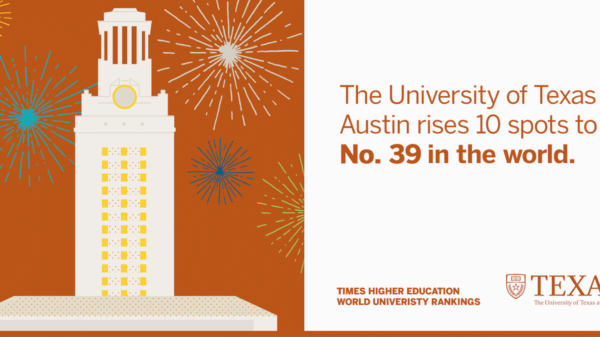 UT Rises 10 Spots in Latest Global Rankings