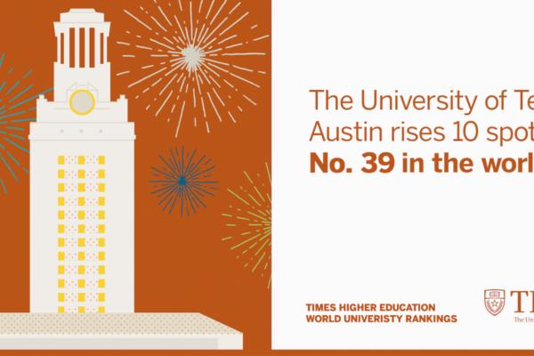 UT Rises 10 Spots in Latest Global Rankings