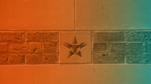 University Brick Pattern with Star in the Middle