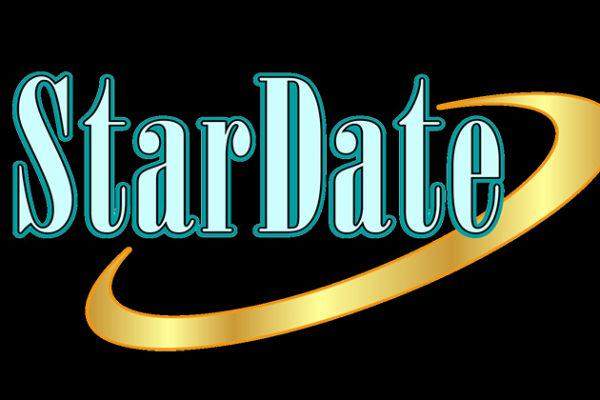 Black background Stardate Logo