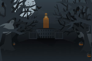 Spooky graphic of UT Tower