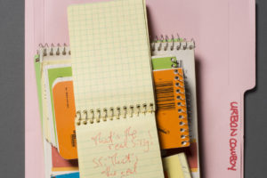 Aaron Latham's notebooks photographed by Pete Smith