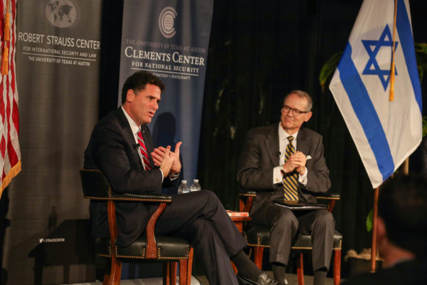 Ron Dermer (left) in conversation with Steve Slick (right). Photo by Natalie Wu.