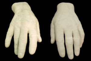 Plaster casts of the hands of English executioner Albert Pierrepoint.