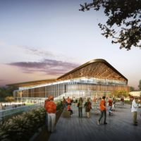 Rendering of new Texas Longhorns arena, exterior