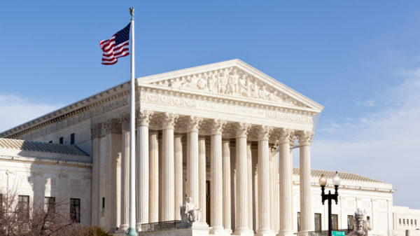 The front of the Supreme Court