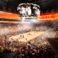 Rendering of new Texas Longhorns arena, interior