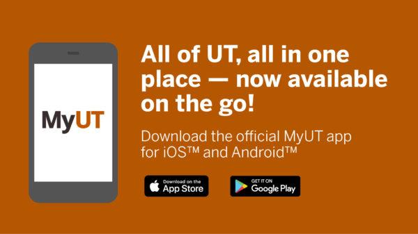 MyUT App advertising illustration.