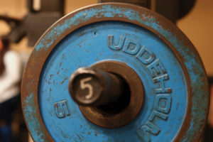 Dumbbells at UT Austin's Get FIT program.