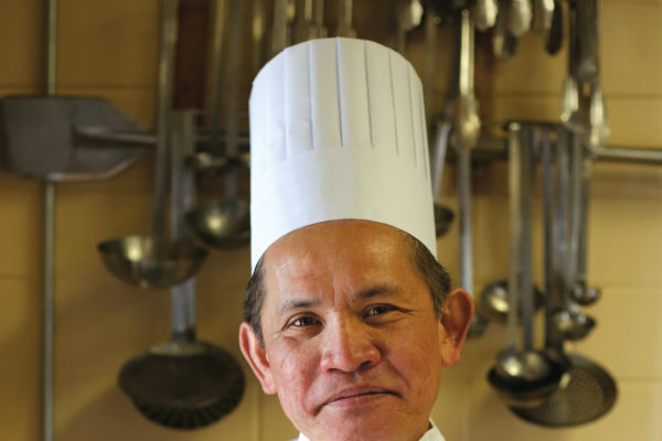 Chef Dai at the Commons Cafe.