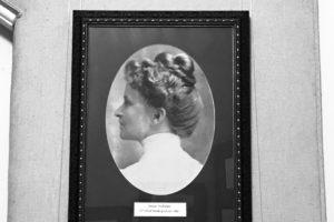 Jessie Andrews photo in graduate school office