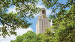 UT Austin Tower among Trees