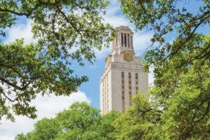 UT Austin Tower among Trees
