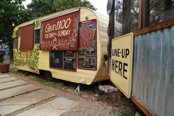 The Micklethwait Craft Meats food truck with a
