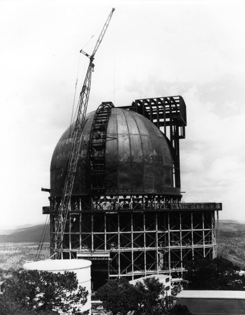 Construction of Smith Telescope, late 1960s