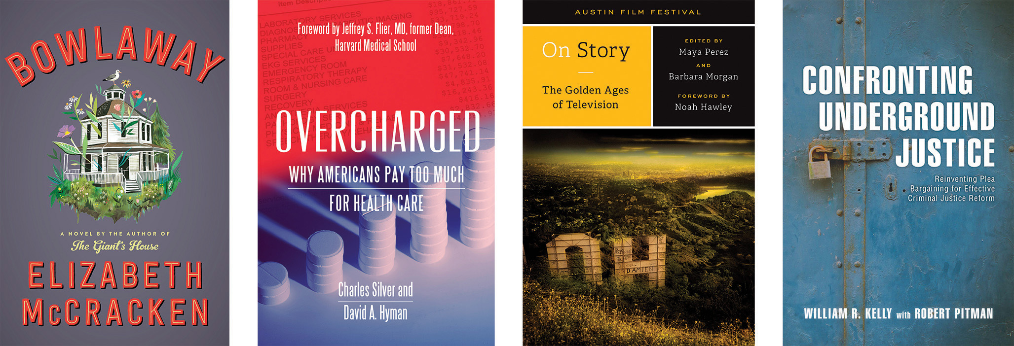 Four book covers.