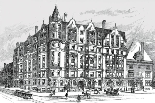 Rendering of the Charlesgate by J. Pickering Putnam, 1891.
