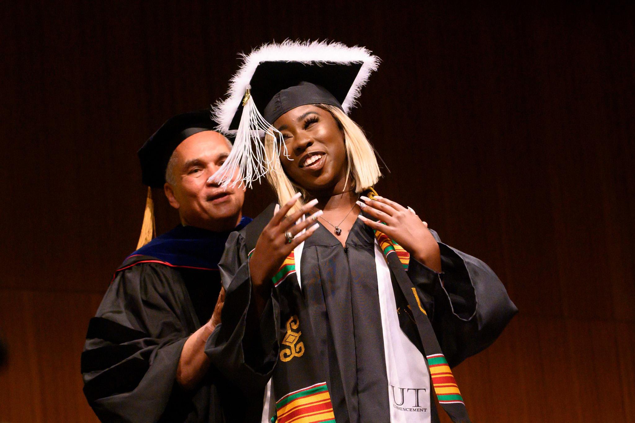Black female graduate.