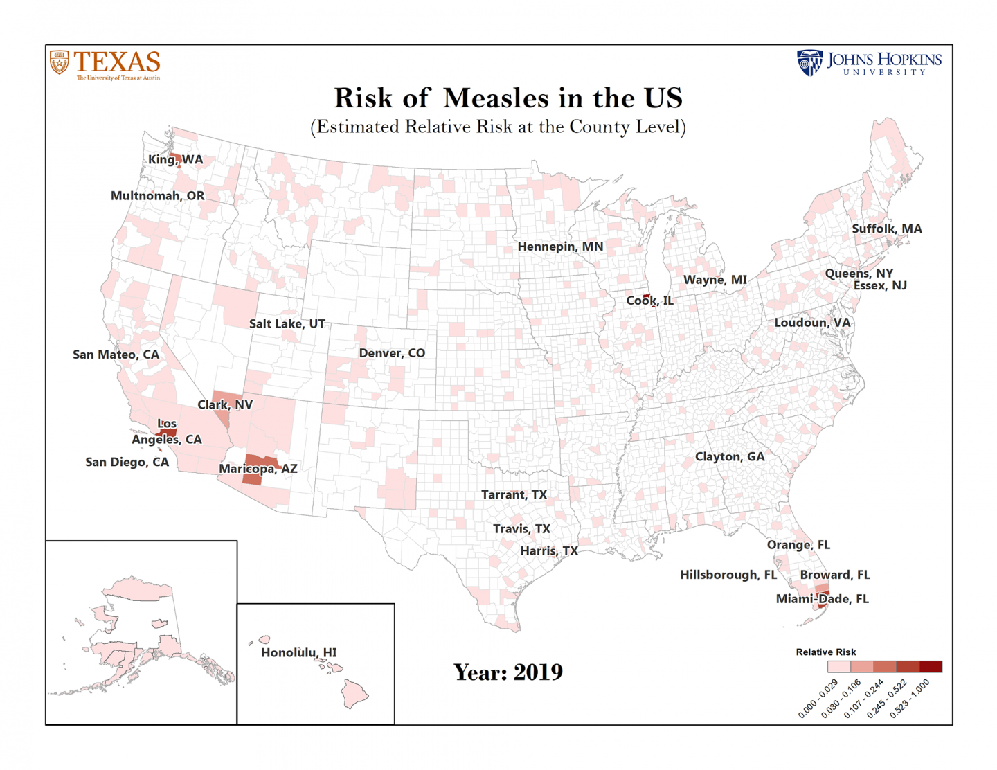 25 U S  Counties Identified as Most at Risk for Measles