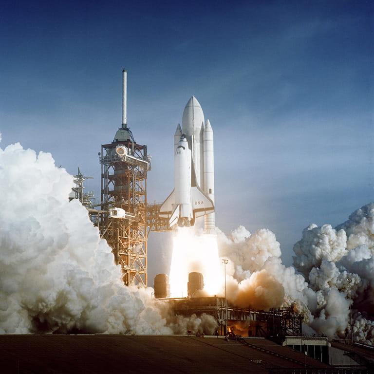 Columbia liftoff.