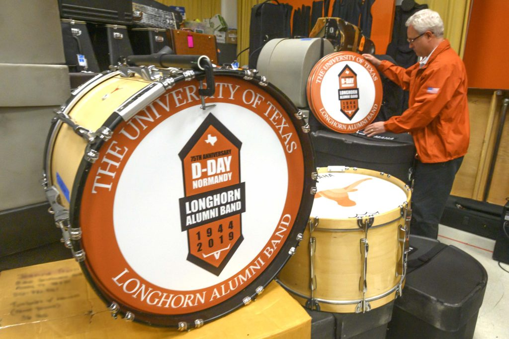 Drum with 75th D-Day anniversary logo.