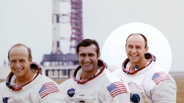 Pete Conrad, Dick Gordon, and, Alan Bean