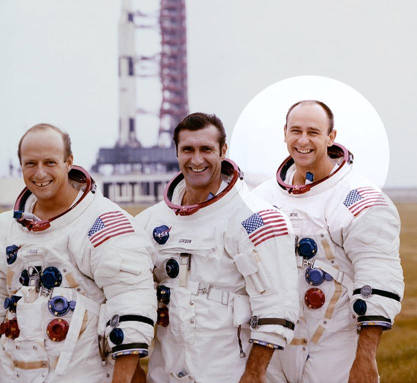 Pete Conrad, Dick Gordon, and, Alan Bean