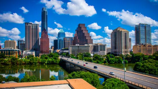 The city skyline of Austin