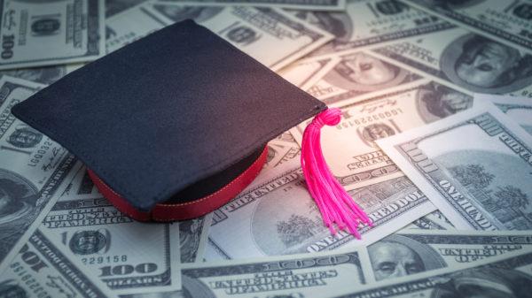 Graduation cap one hundred dollar