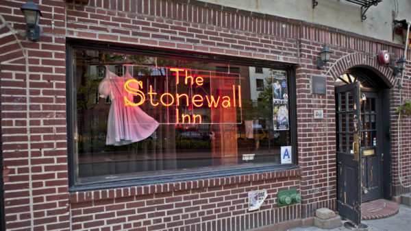 Facade of the Stonewall Inn at 53 Christopher Street in NYC.
