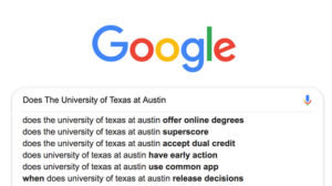 Google_Does The University of Texas at Austin