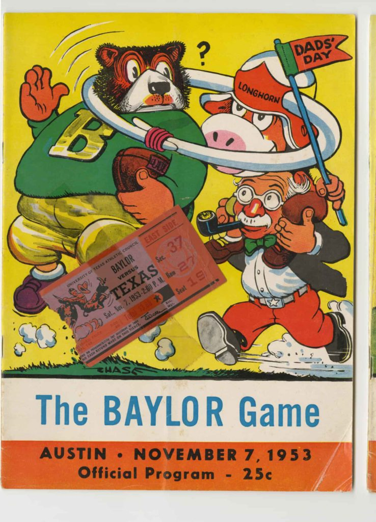 UT vs Baylor Game 1953