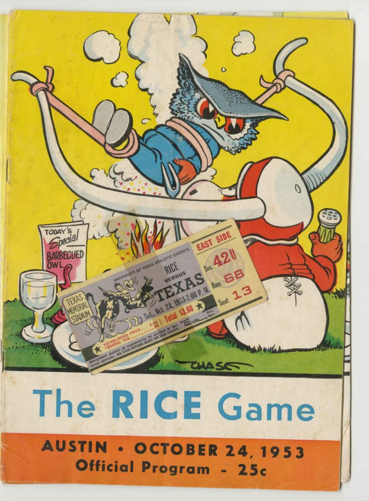 UT vs Rice Game 1953