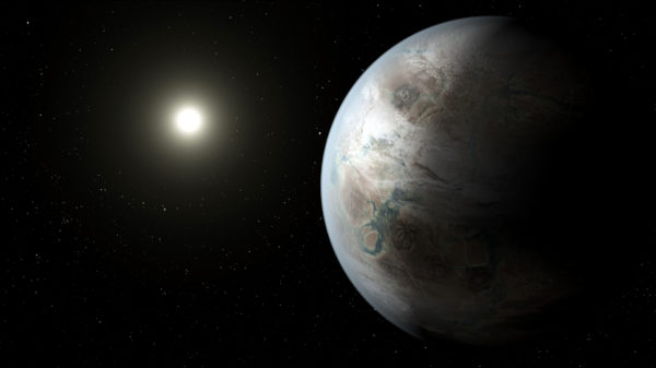 Artist rendering of Kepler-452b.