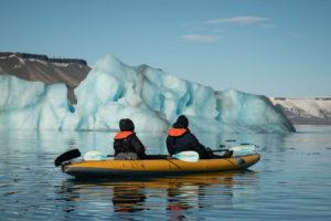kayak trip in the Arctic