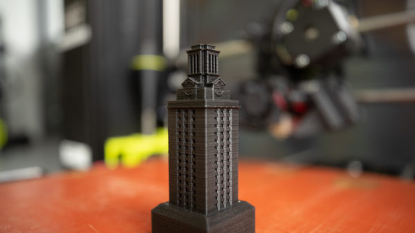 A 3D model of the UT Tower.