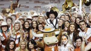 HE TONIGHT SHOW STARRING JIMMY FALLON -- Episode 1152 -- Pictured: (l-r) Host Jimmy Fallon poses with UT Austin Students on November 6, 2019