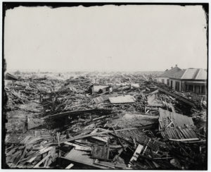 Galveston after the hurricane of 1900