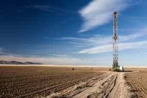 A drill in the open lands